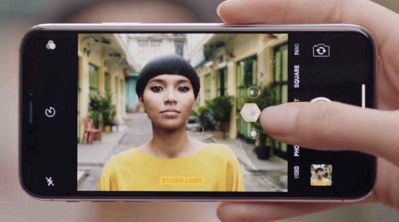 iPhone X oświetlenie portretowe