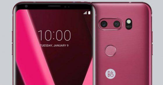 LG V30 Raspberry Rose CES 2018