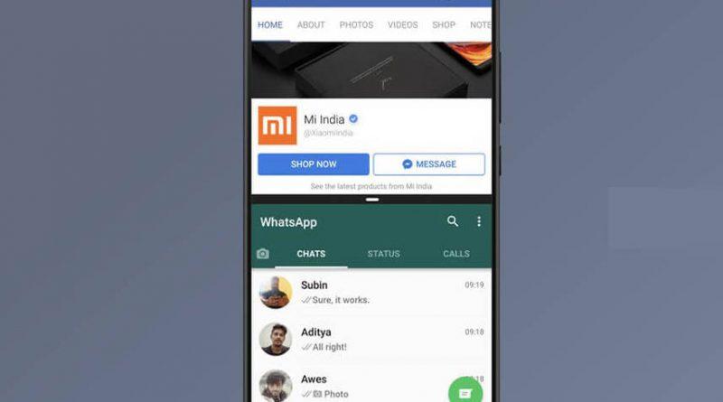 Xiaomi MIUI 9 podzielony ekran