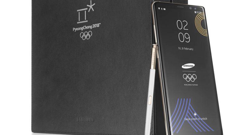 Samsung Galaxy Note 8 specjalna edycja na Zimowe Igrzyska Olimpijskie 2018