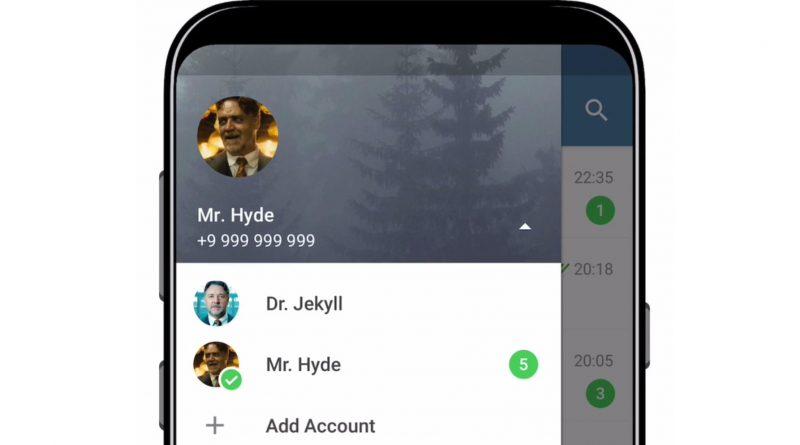 Telegram 4.7 Android obsługa wiele kont
