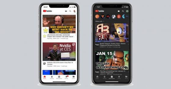 YouTube na iOS Dark Mode ciemny motyw Dark Theme