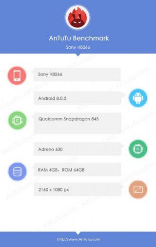 Sony Xperia XZ2 specyfikacja AnTuTu