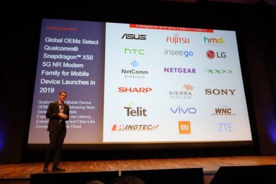 Qualcomm modem 5G HTC Vivo LG Xiaomi Sony