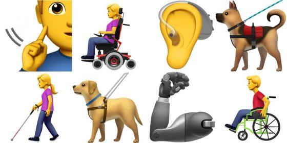 apple emoji unicode niepełnosprawni ios 12