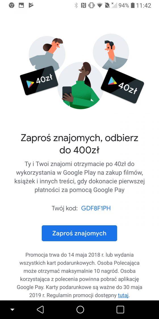 Polecaj Google Pay I Odbierz Nawet 400 Zl Do Wydania W Google Play