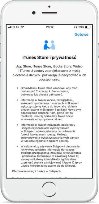 iOS 11.3 prywatność
