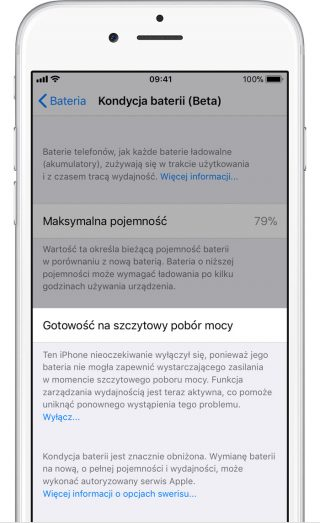 iOS 11.3 Kondycja baterii beta Apple iPhone