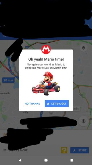 mario day mapy google