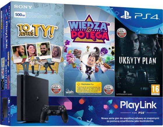PlayStation 4 Slim gry PlayLink