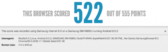 Samsung Galaxy Note 9 benchmark