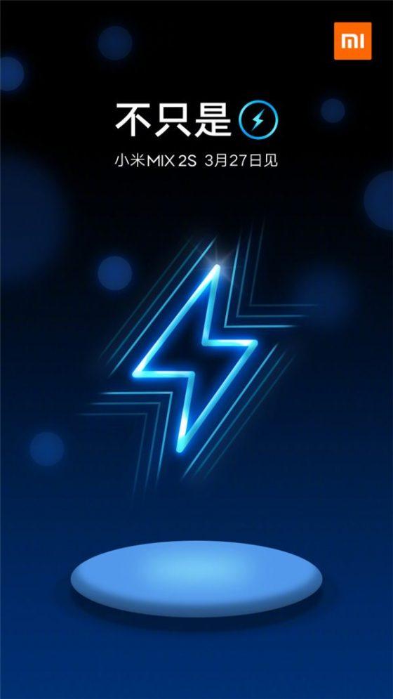 Xiaomi Mi Mix 2S bezprzewodowe ładowanie baterii