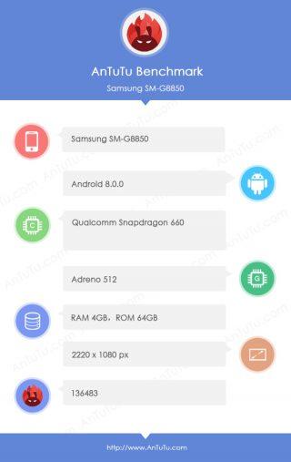 Samsung Galaxy S9 mini SM-G8850 AnTuTu Qualcomm Snapdragon 660