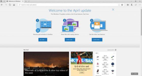 Windows 10 April Update kwietniowa aktualizacja Redstone 4
