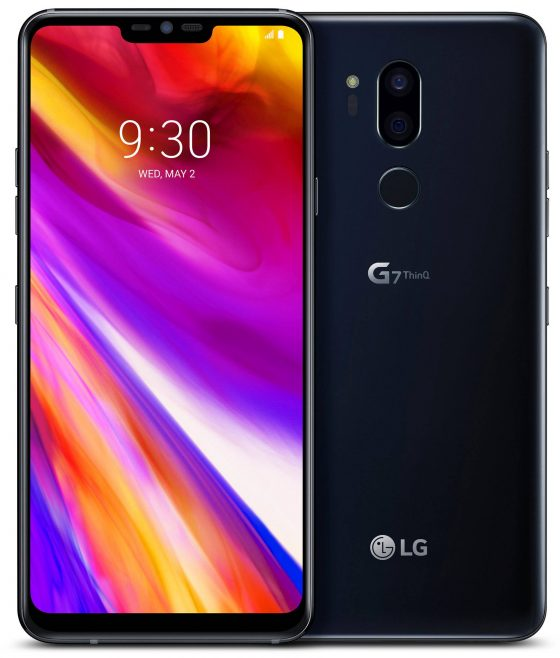LG G7 ThinQ render czarny