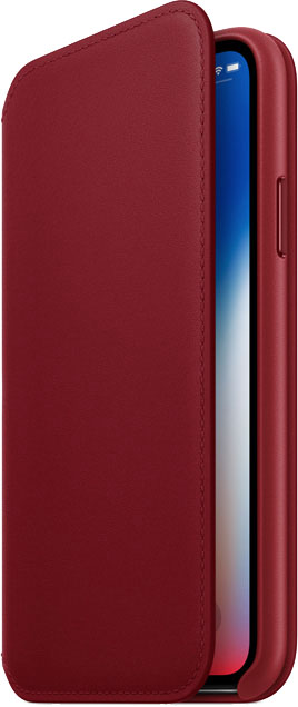 Apple iPhone X PRODUCT(RED) Leather Folio