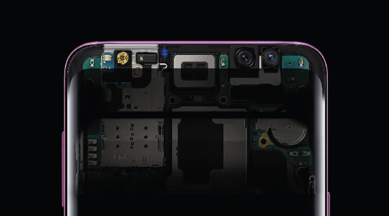 Samsung Galaxy S9 stereofoniczne głośniki