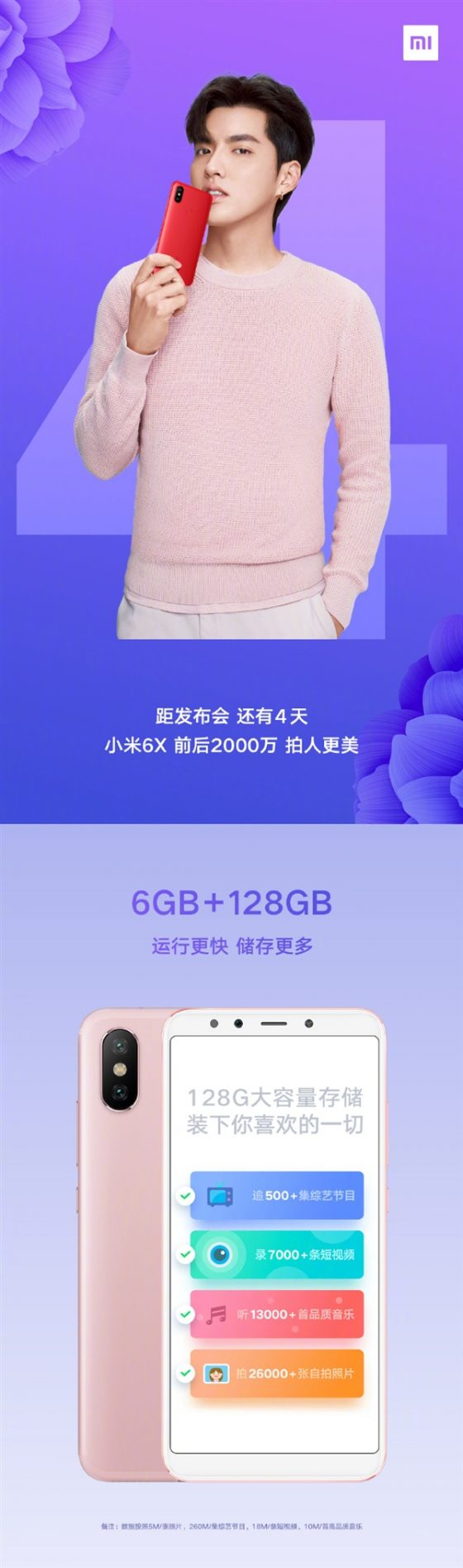 Xiaomi Mi 6X wersje