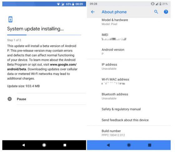 Android P DP 2 Google I/O 2018