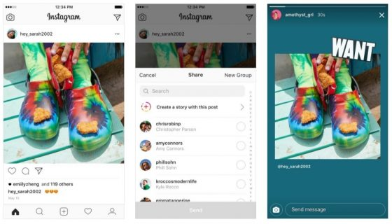 Instagram Stories posty