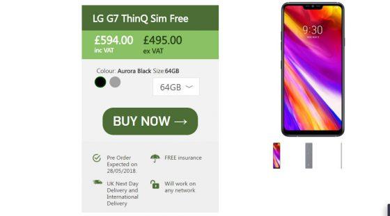 LG G7 ThinQ cena