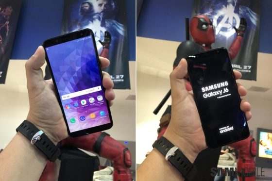 Samsung Galaxy j6 zdjęcia ekran Infinity