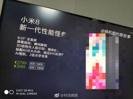 Xiaomi Mi 8 cena Xiaomi Mi 7 cena