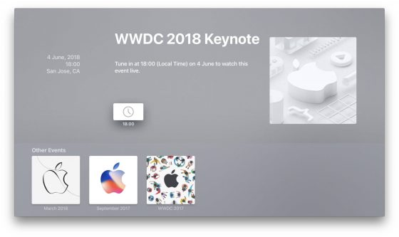 Apple Events WWDC 2018 Apple TV live stream gdzie oglądać