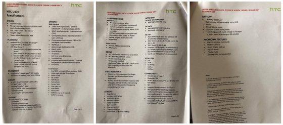 HTC U12 Plus specyfikacja