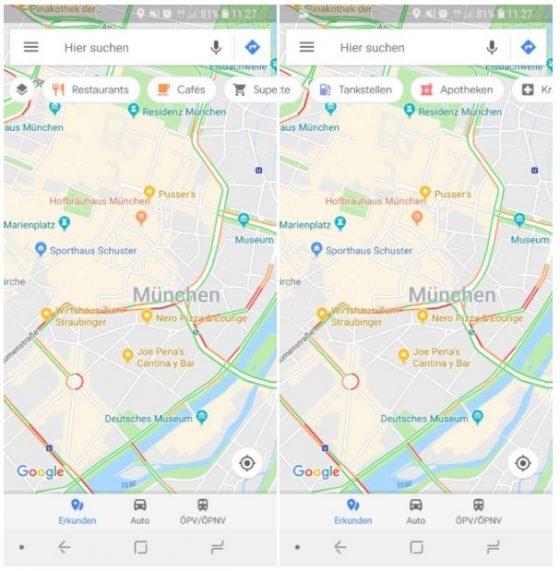 mapy google ruchomy pasek narzędzi
