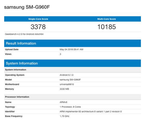 Samsung Galaxy S9 Android 8.1 Oreo kiedy