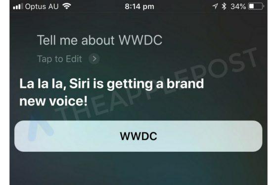 Apple Siri iOS 12 WWDC 2018 nowy głos
