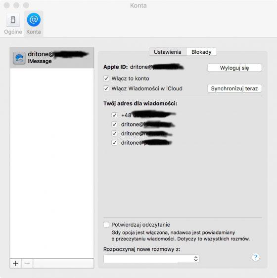 Jak włączyć wiadomości w iCloud macOS
