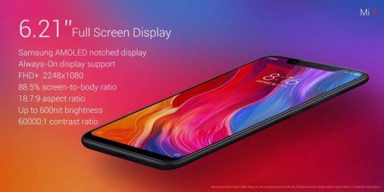 Xiaomi Mi 8 ekran