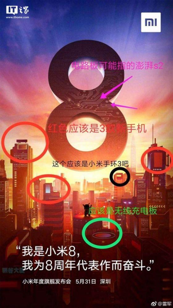 Xiaomi Mi 8 Mi Band 3 Surge S2 kiedy premiera