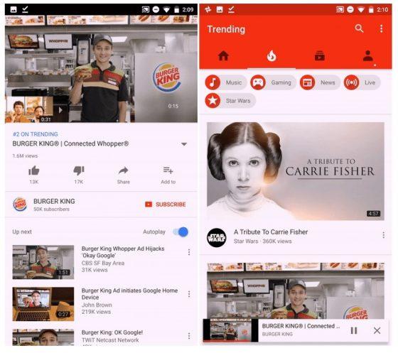 youtube android odtwarzanie wideo