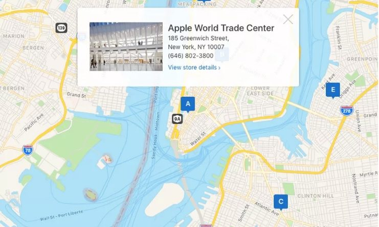Mapy Apple MapKit JS