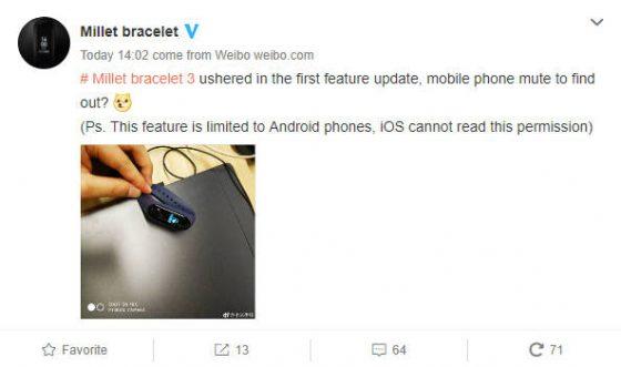 Xiaomi Mi Band 3 cena wyciszanie telefonu nowa funkcja gdzie kupić kiedy w Polsce