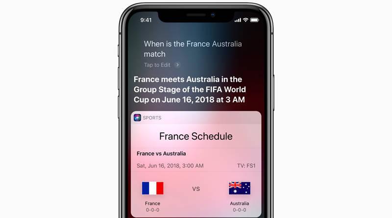 Apple Siri Mundial Mistrzostwa Świata w Piłce Nożnej 2018