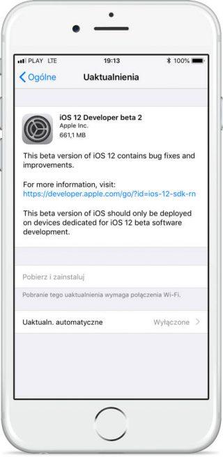 Apple iOS 12 beta 2 kiedy publiczna beta iPhone