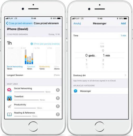 iOS 12 jak zablokować dostęp do aplikacji w iPhone Czas na ekranie