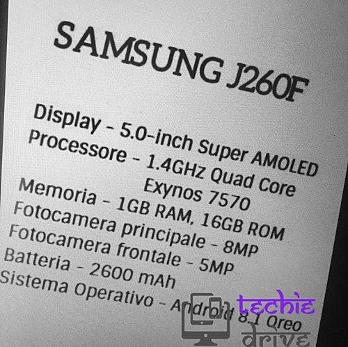 Samsung SM-J260F Android Go specyfikacja techniczna tani smartfon