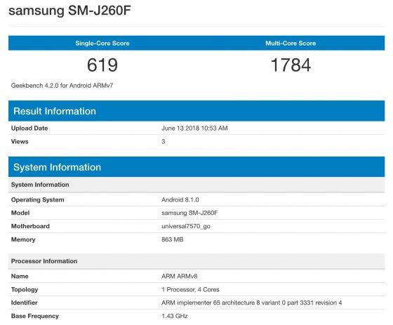Samsung SM-J260F smartfon Android Go kiedy premiera specyfikacja