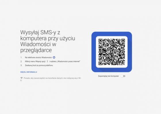 wiadomości na androida sms z przeglądarki