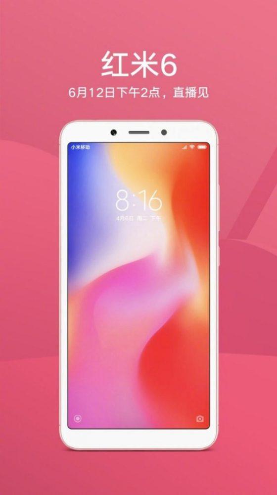 Xiaomi Redmi 6 teaser kiedy premiera cena
