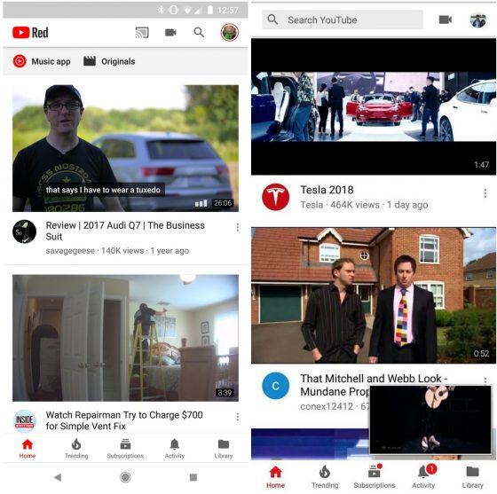 YouTube na Androida nowy pasek wyszukiwania wyszukiwarka