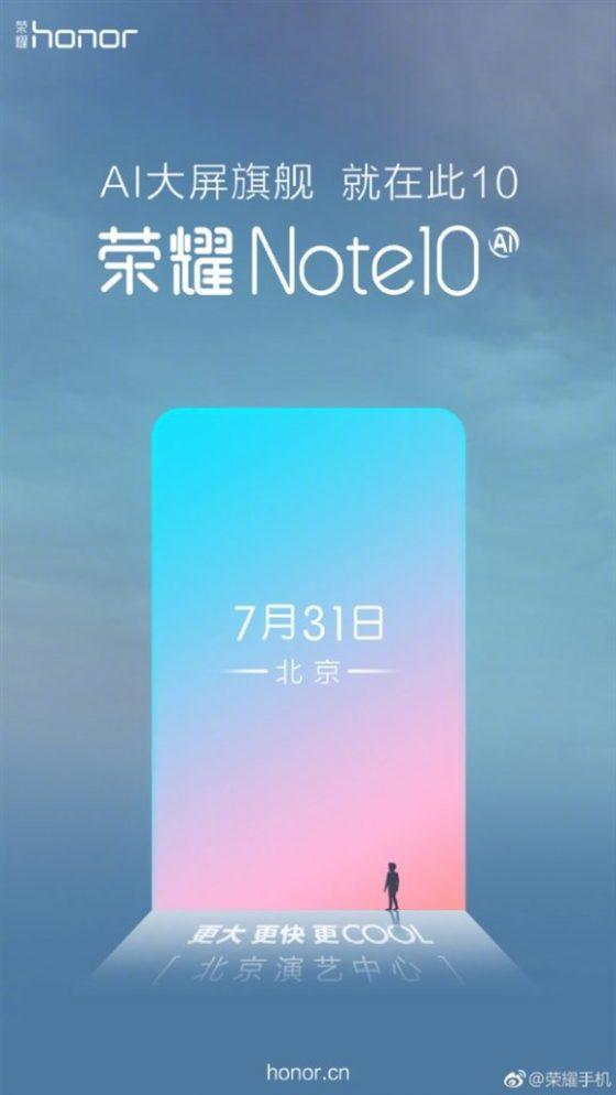 Honor Note 10 kiedy premiera specyfikacja techniczna Huawei Xiaomi Mi Max 3