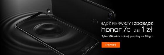 Huawei Honor 7C promocja za złotówkę Allegro opinie