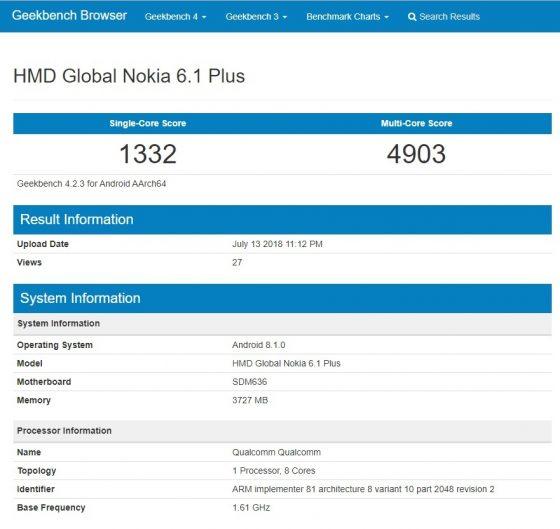 Nokia 6.1 Plus specyfikacja techniczna kiedy premiera