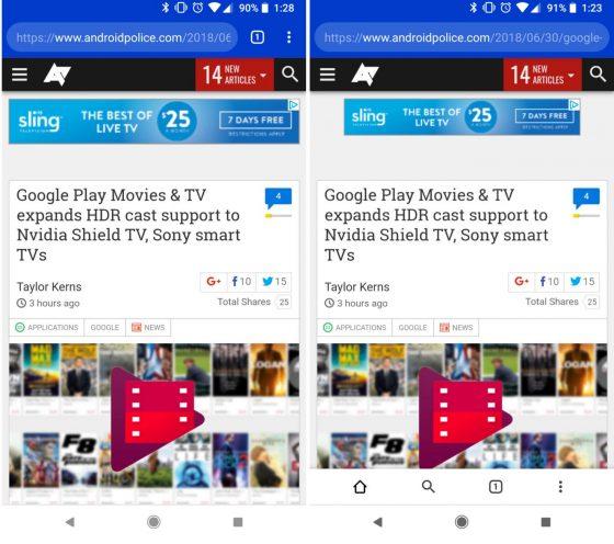 Google Chrome Canary Duplex UI nowy wygląd